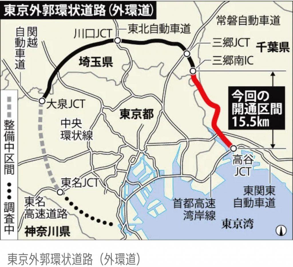 東京外環自動車道の延長